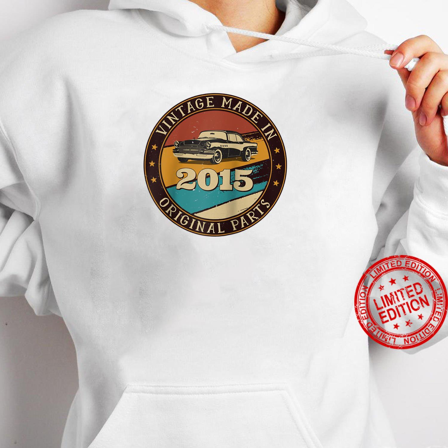 6 Years Old Retro Vintage Car Made In 2015 6th Birthday Shirt hoodie