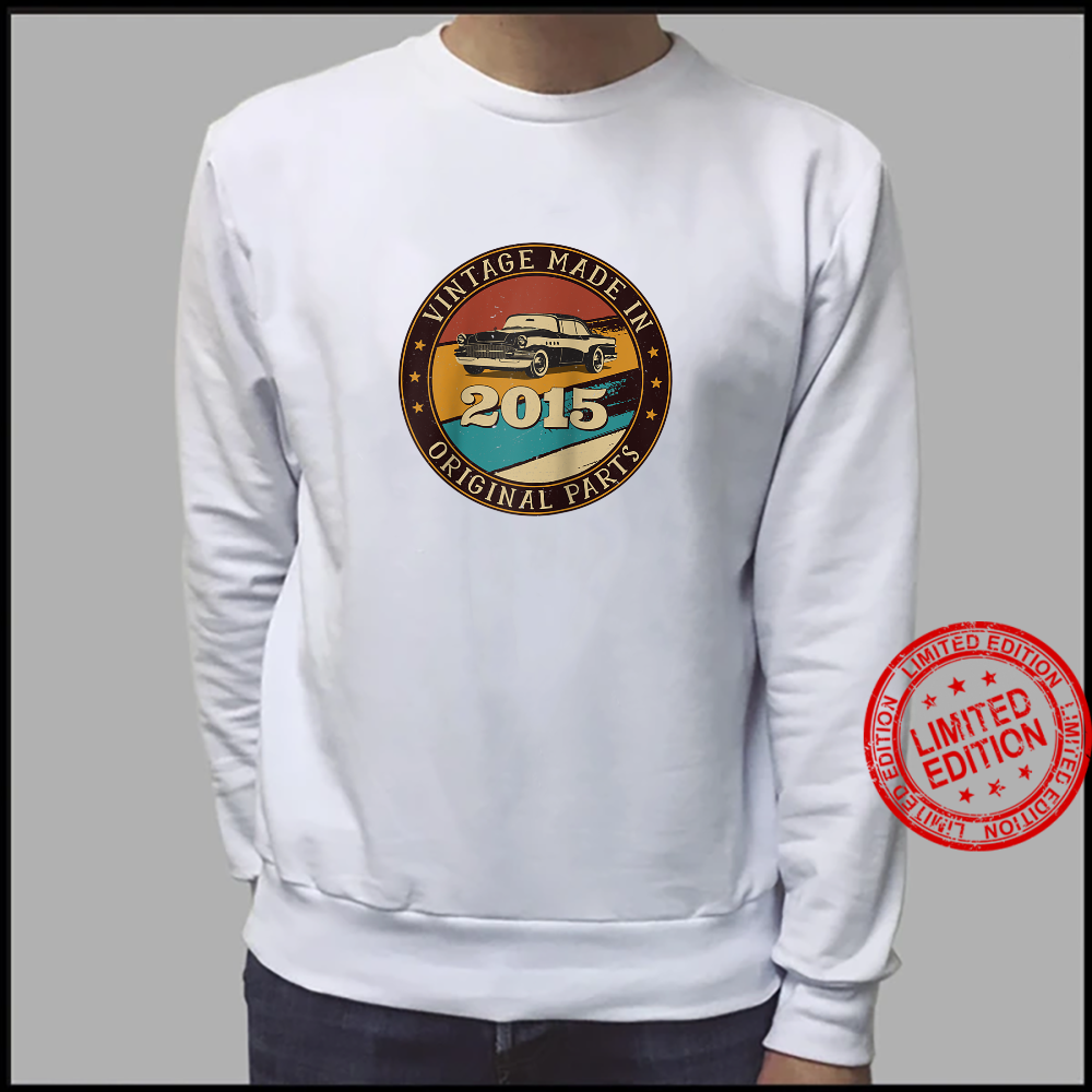 6 Years Old Retro Vintage Car Made In 2015 6th Birthday Shirt sweater