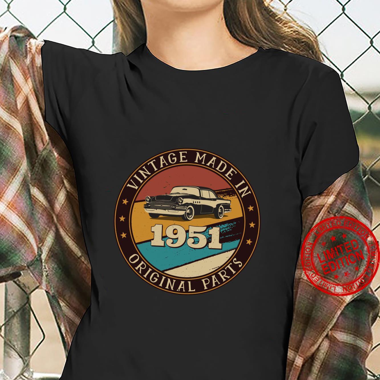 70 Jahre alter RetroOldtimer aus dem Jahr 1951 70. Geburtst Langarmshirt Shirt ladies tee