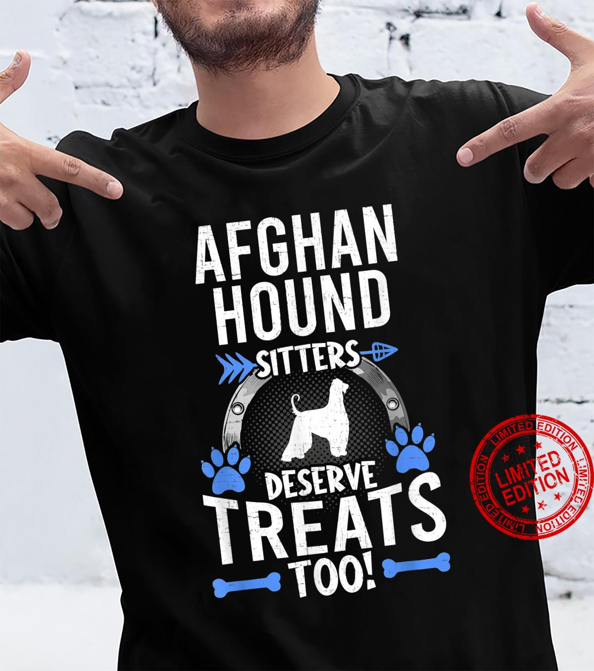 Afghan Hound Sitters Deserve Treats Dogs Shirt