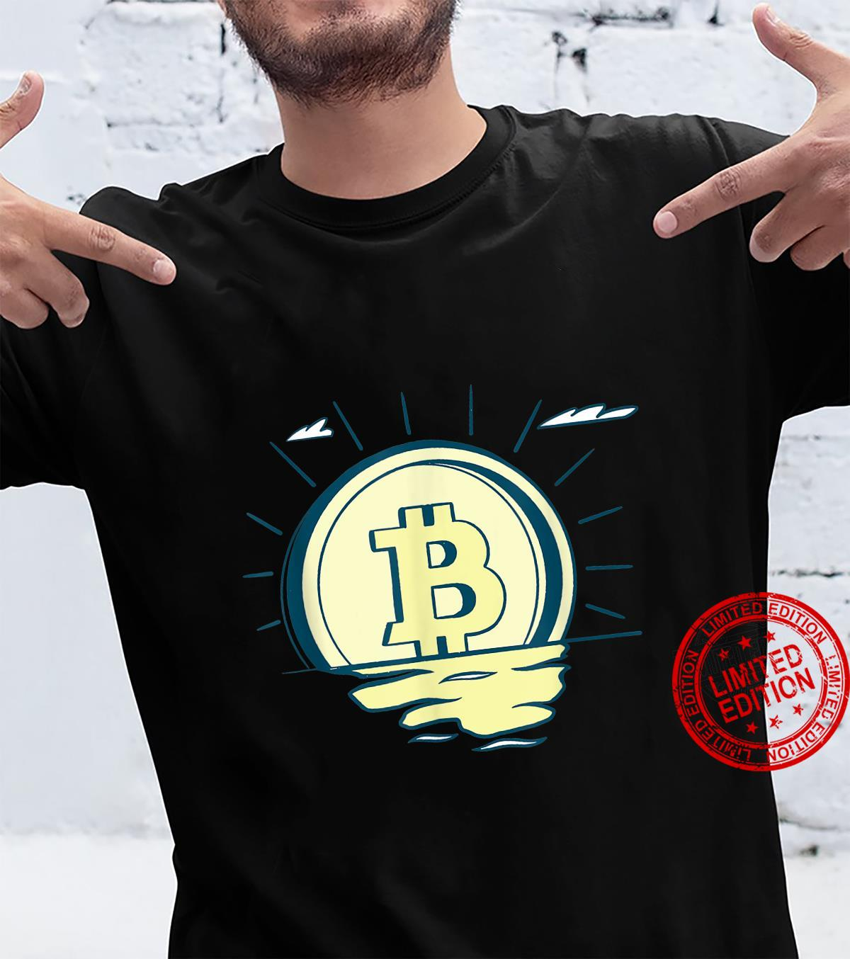 BTC Crypto Bitcoin Sunrise Shirt