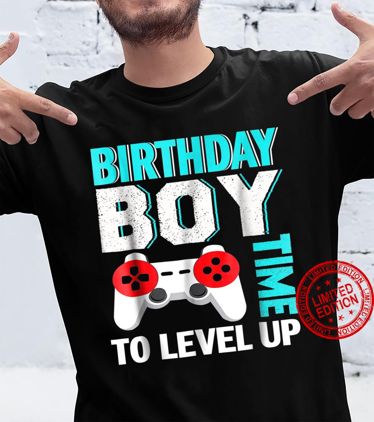 Birthday Boy Video Game Birthday Party Shirt