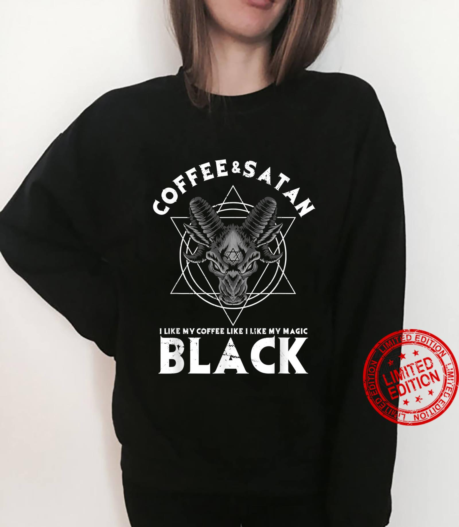 Coffee And Satan Occult Gothic Goth Baphomet Aesthetic Goth Shirt sweater