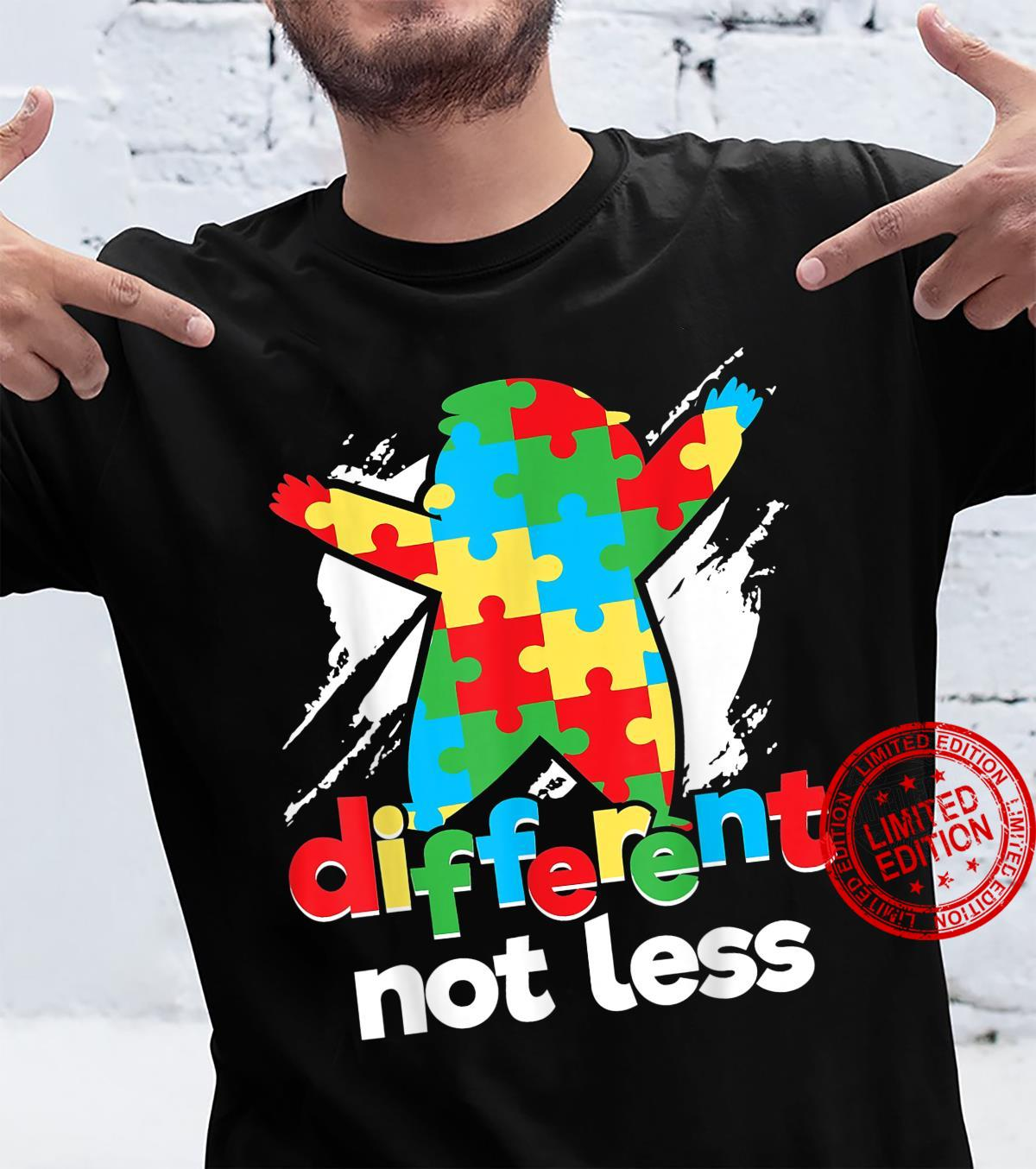 Different Not Less Puzzle Piece Autism Awareness Day Shirt