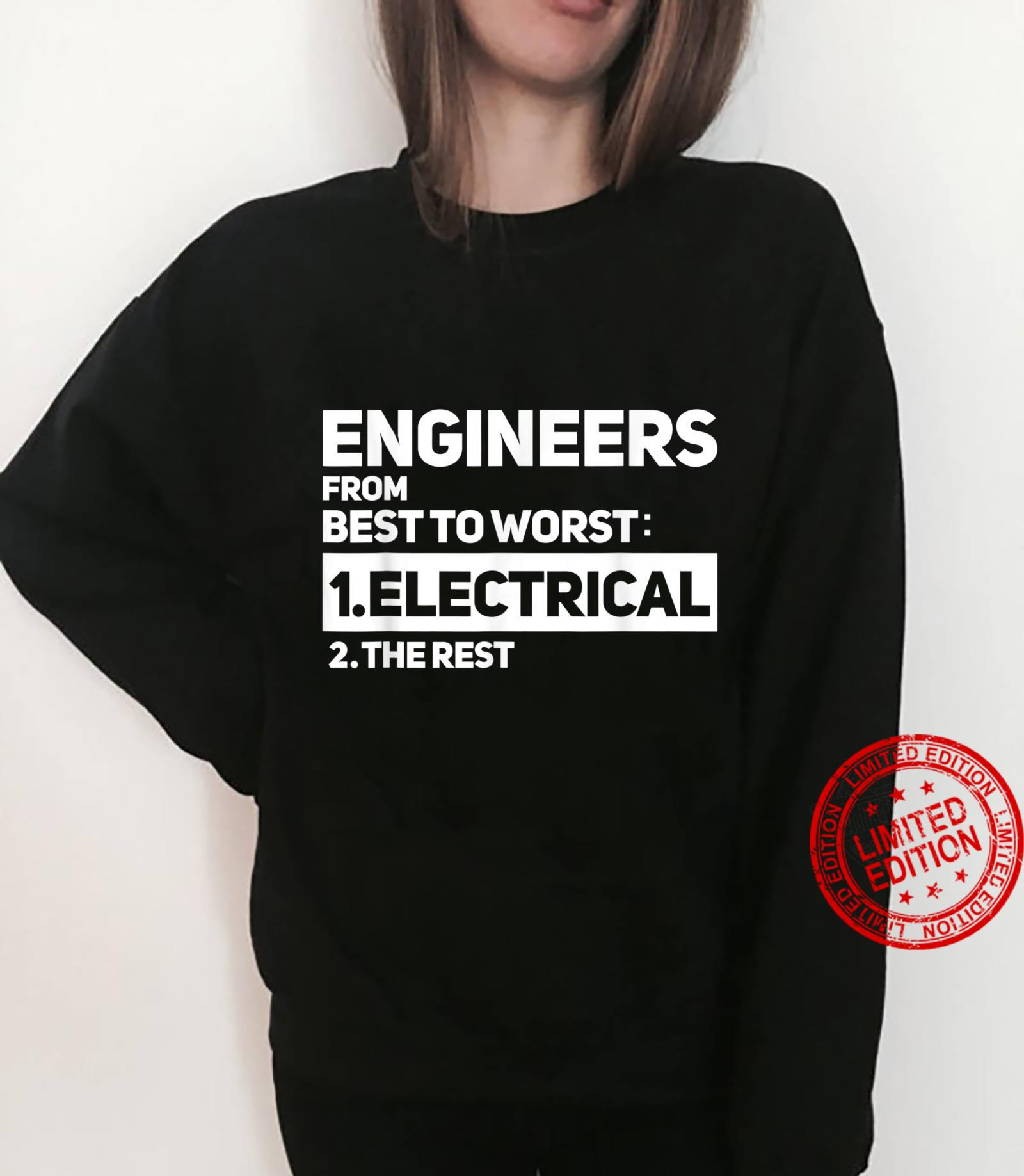 Funny Engineers From Best To Worst Electrical Engineering Shirt sweater