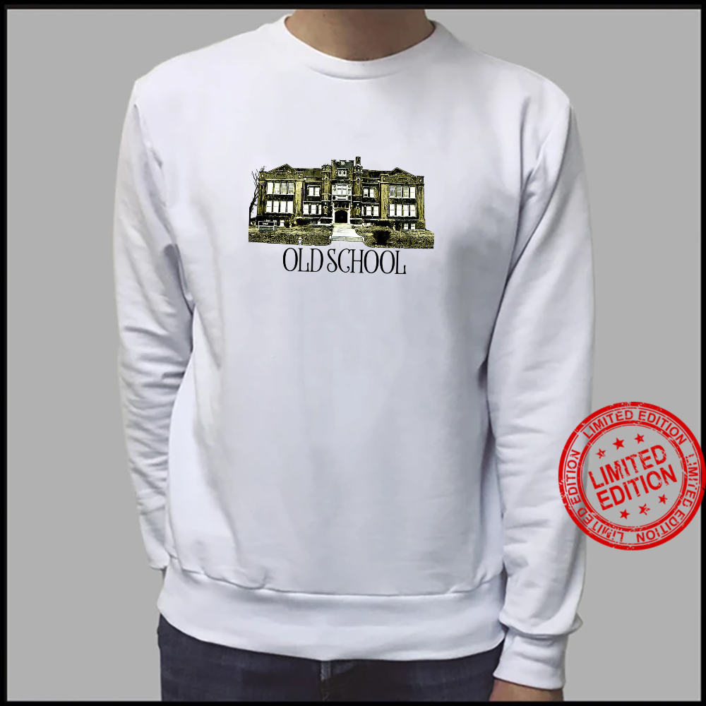 Kicking It Old School Literal yet ironic branded Shirt sweater
