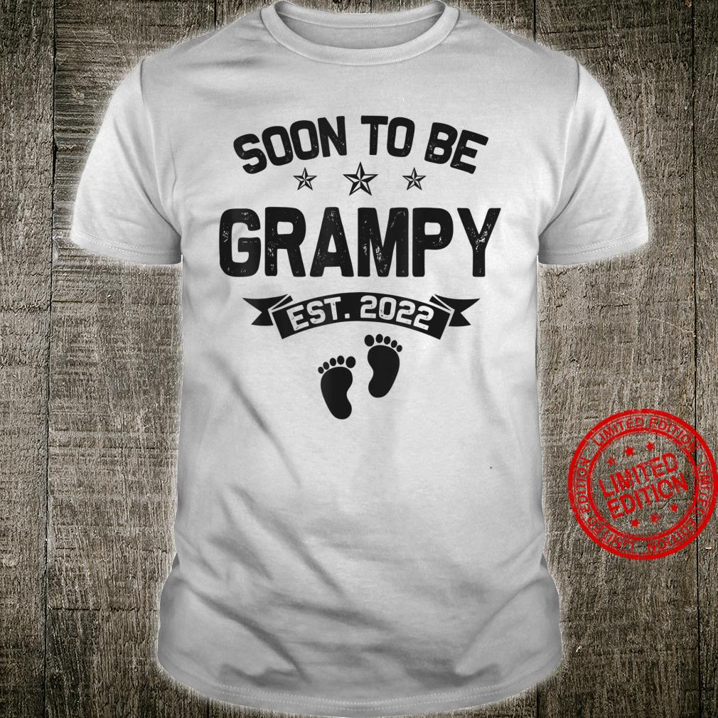 Soon To Be Grampy Est 2022 Matching Family Christmas Shirt