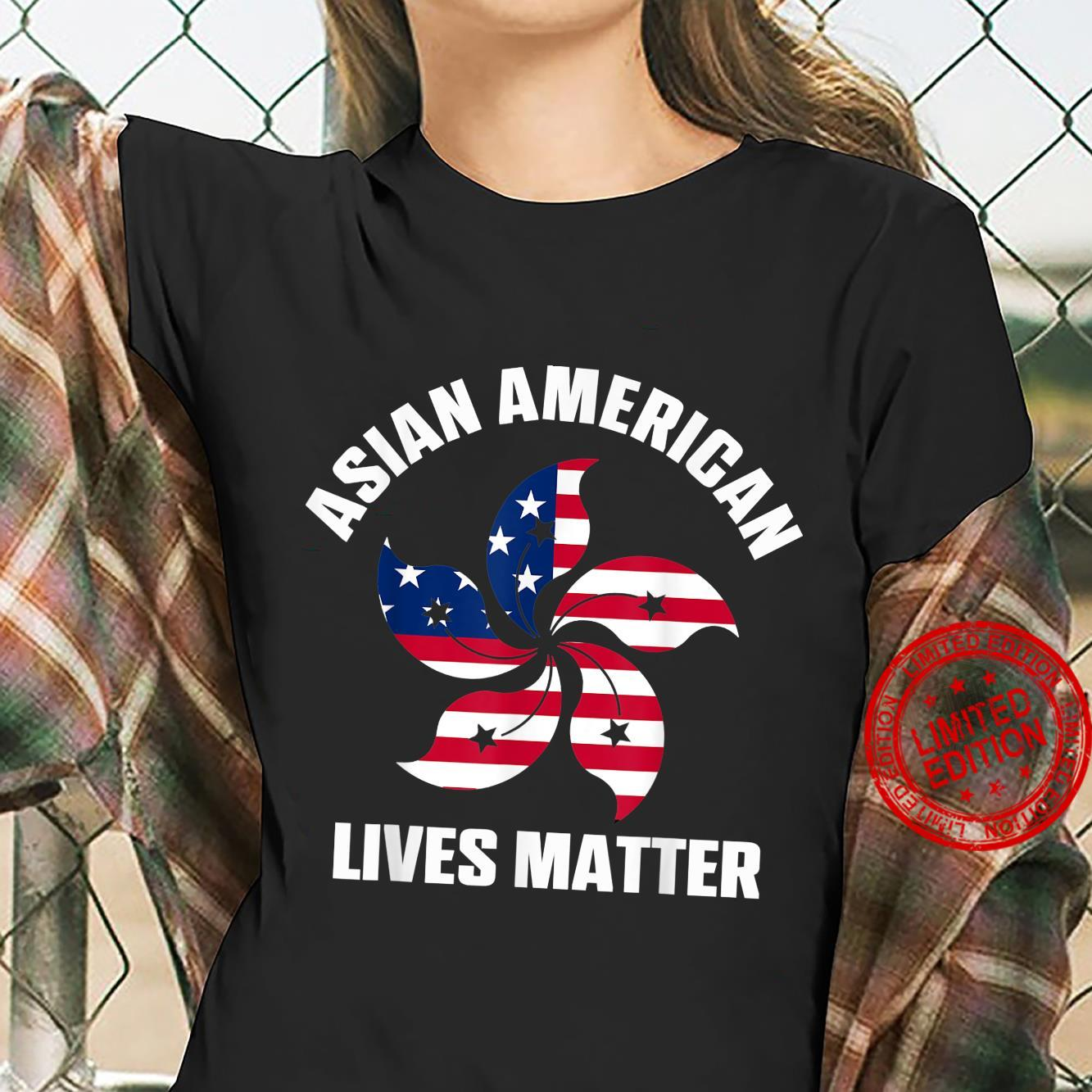 Stop Asian Hate Asian American Lives Matter Shirt ladies tee