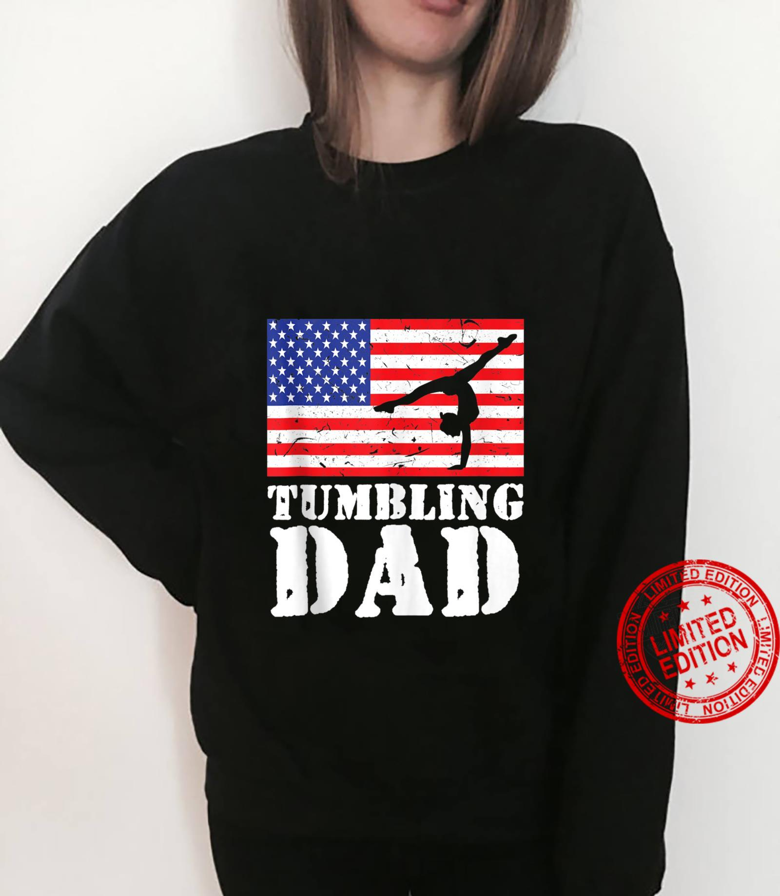 USA American Distressed Flag Tumbling Dad For Him Shirt sweater