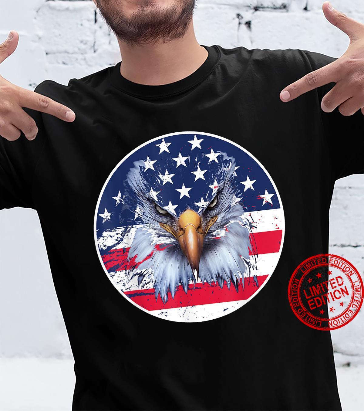 USA American Flag Patriotic Eagle 4th of July Shirt