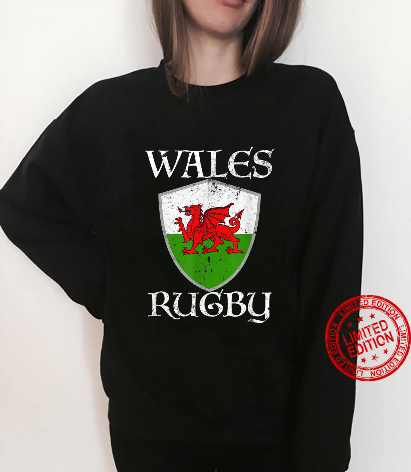 Wales RugbyTShirt, walisische Flagge, CYMRU Geschenk Shirt sweater