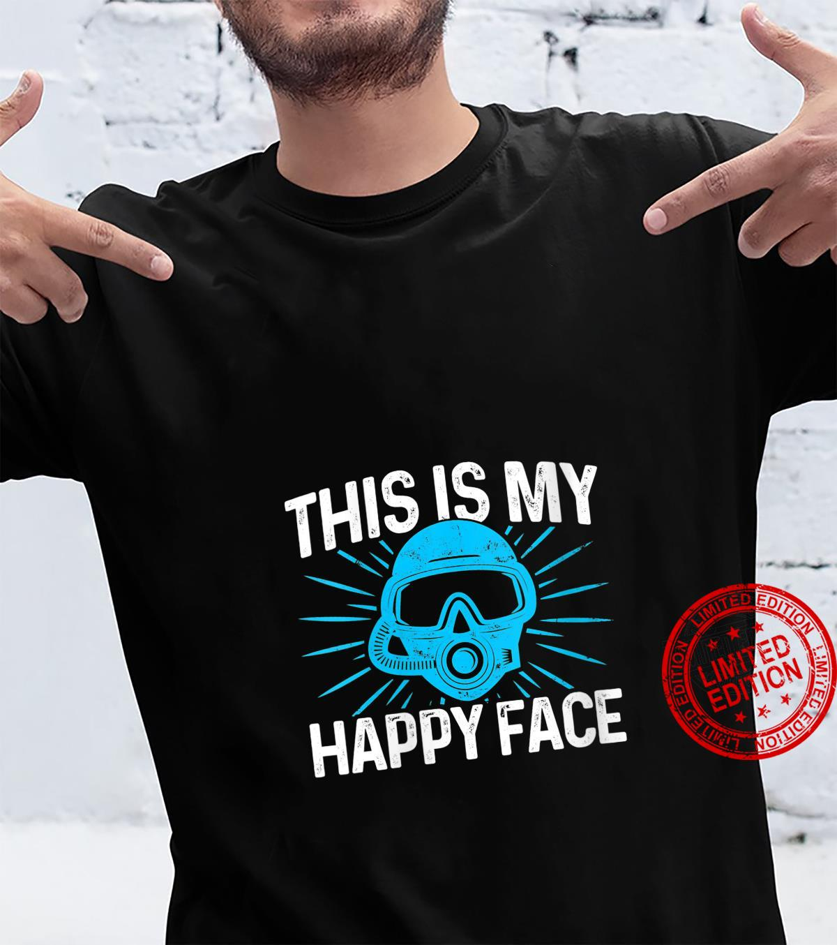 Womens Diver Goggles This Is My Happy Face Diving Scuba Dive water Shirt