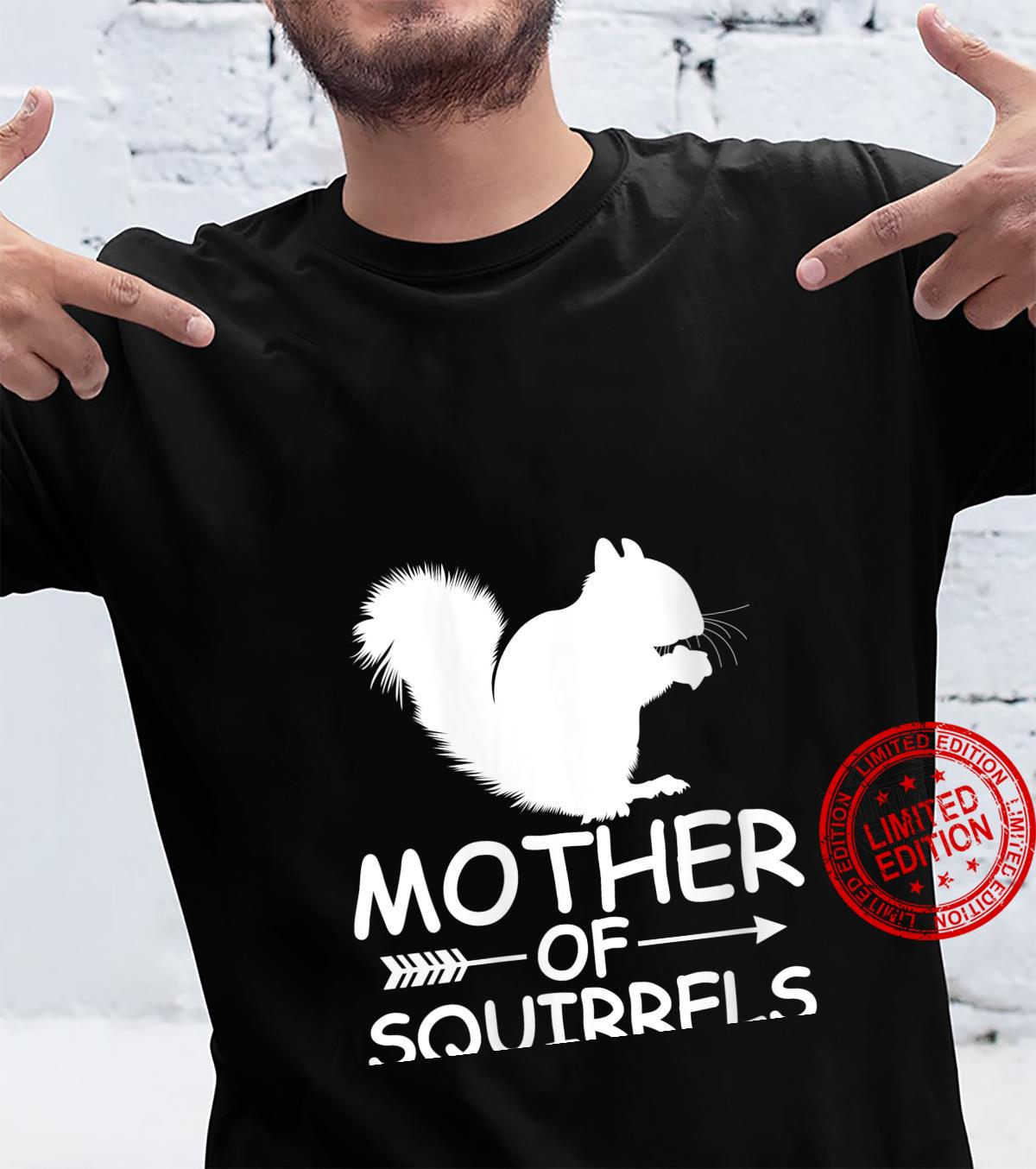 Womens Mother Of Squirrels Shirt Squirrels Mom Mother's Day Shirt