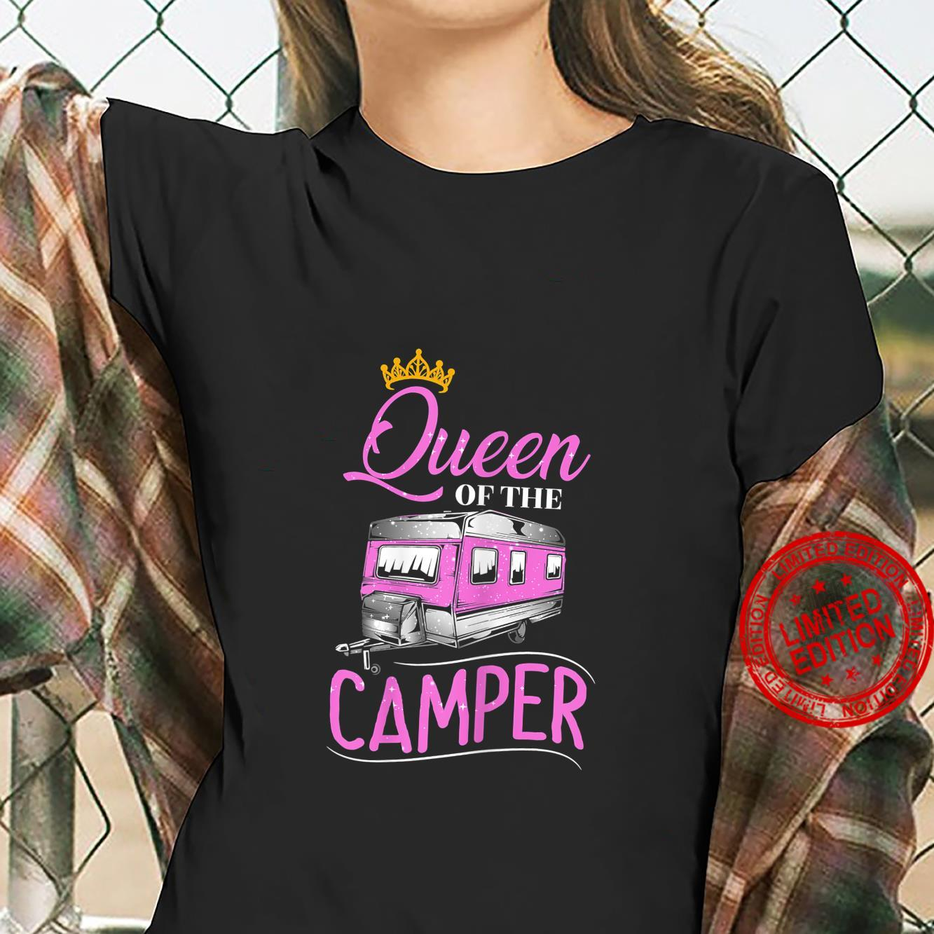 Womens Queen Of The Camper Queen RV RV Camping Shirt ladies tee