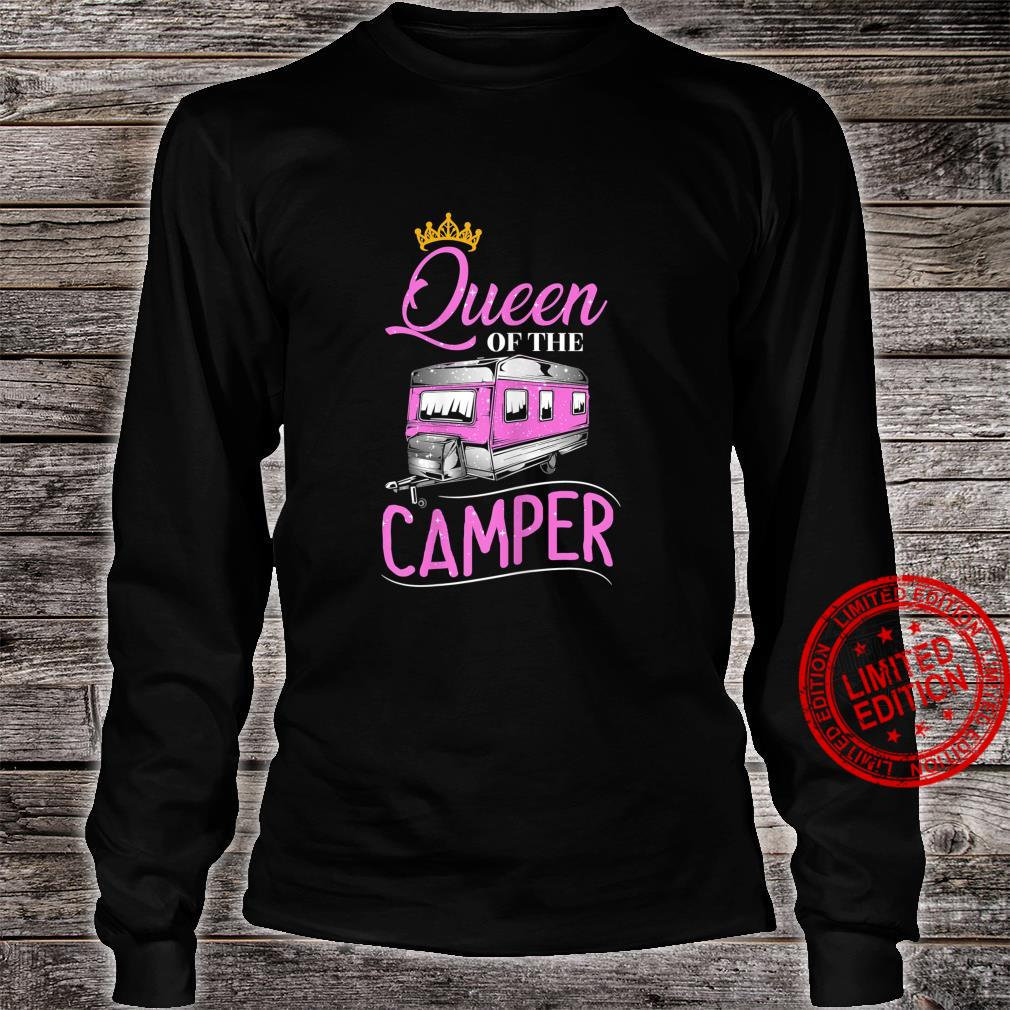 Womens Queen Of The Camper Queen RV RV Camping Shirt long sleeved