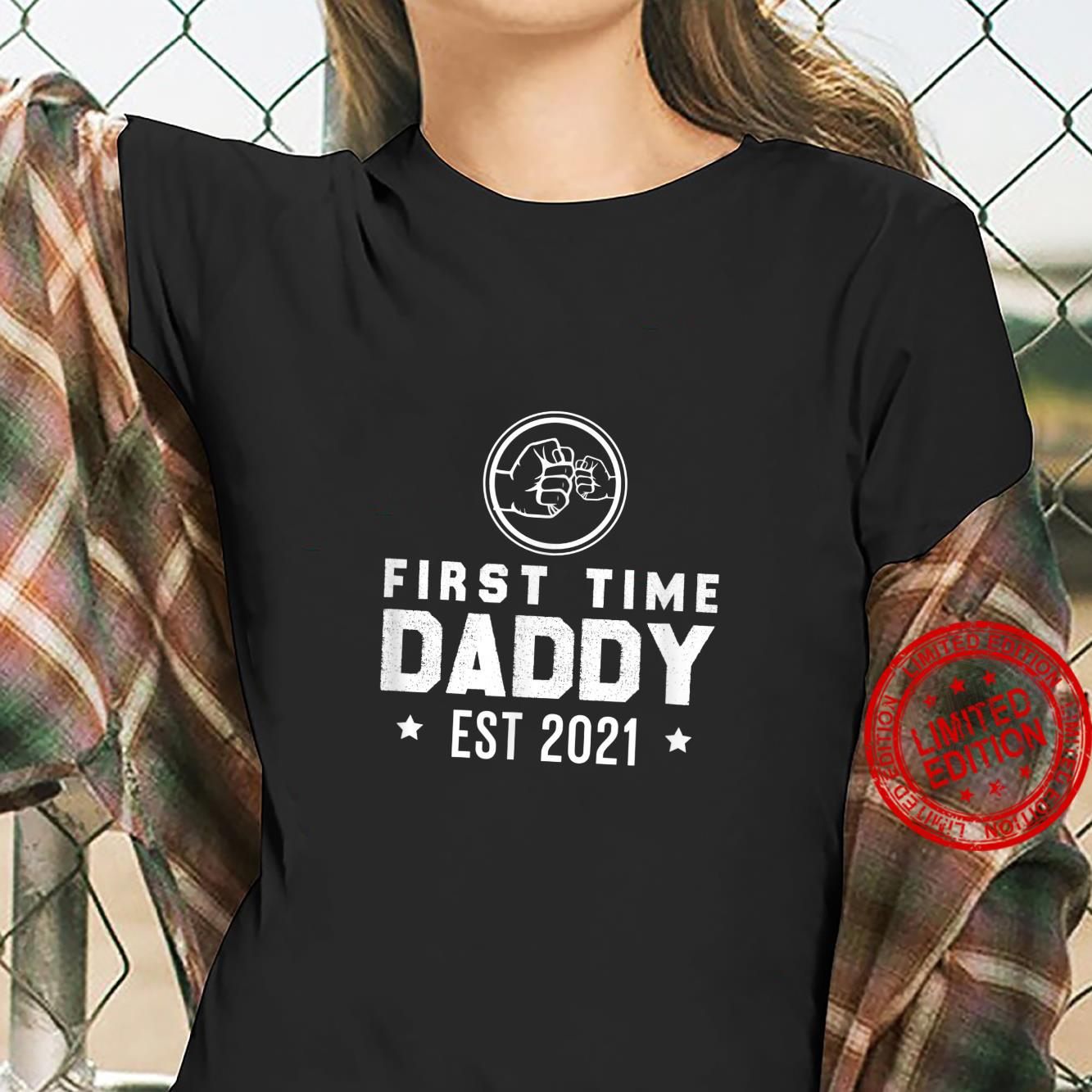 YoFa First Time Daddy Est 2021 Apparel Co Shirt ladies tee