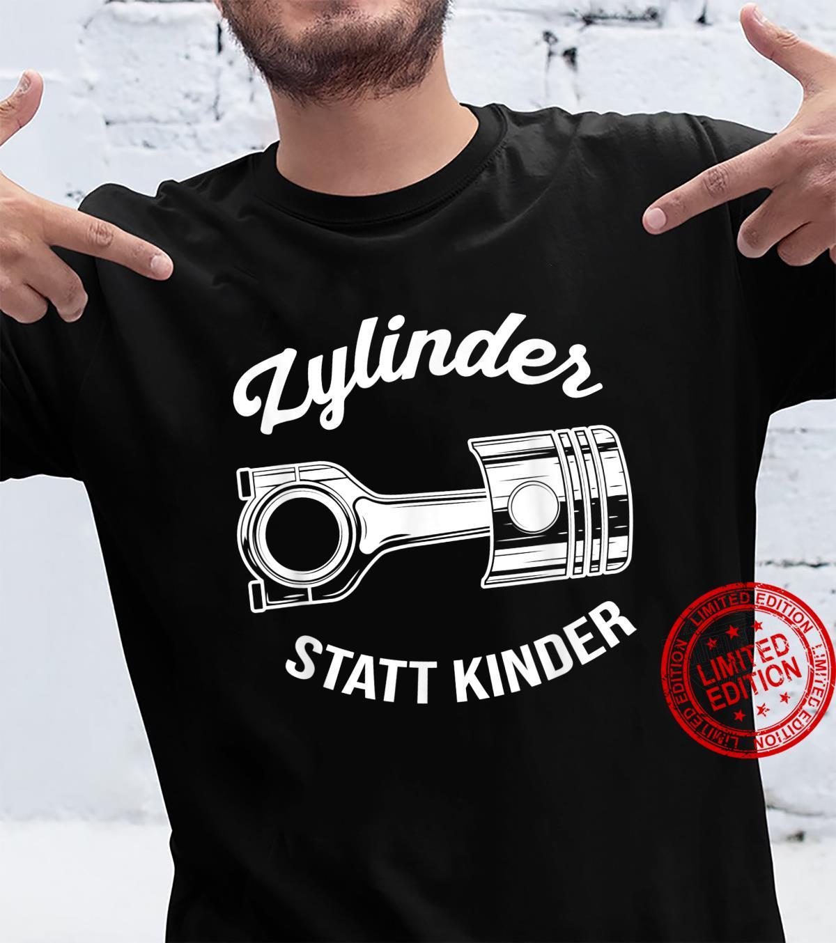 Zylinder Statt Kinder Lustiges Auto Motor Tuner Tuning Shirt