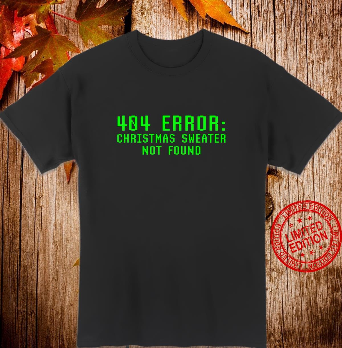 404 Fehler Weihnachtspullover Nicht Gefunden Lustig Geeky Shirt