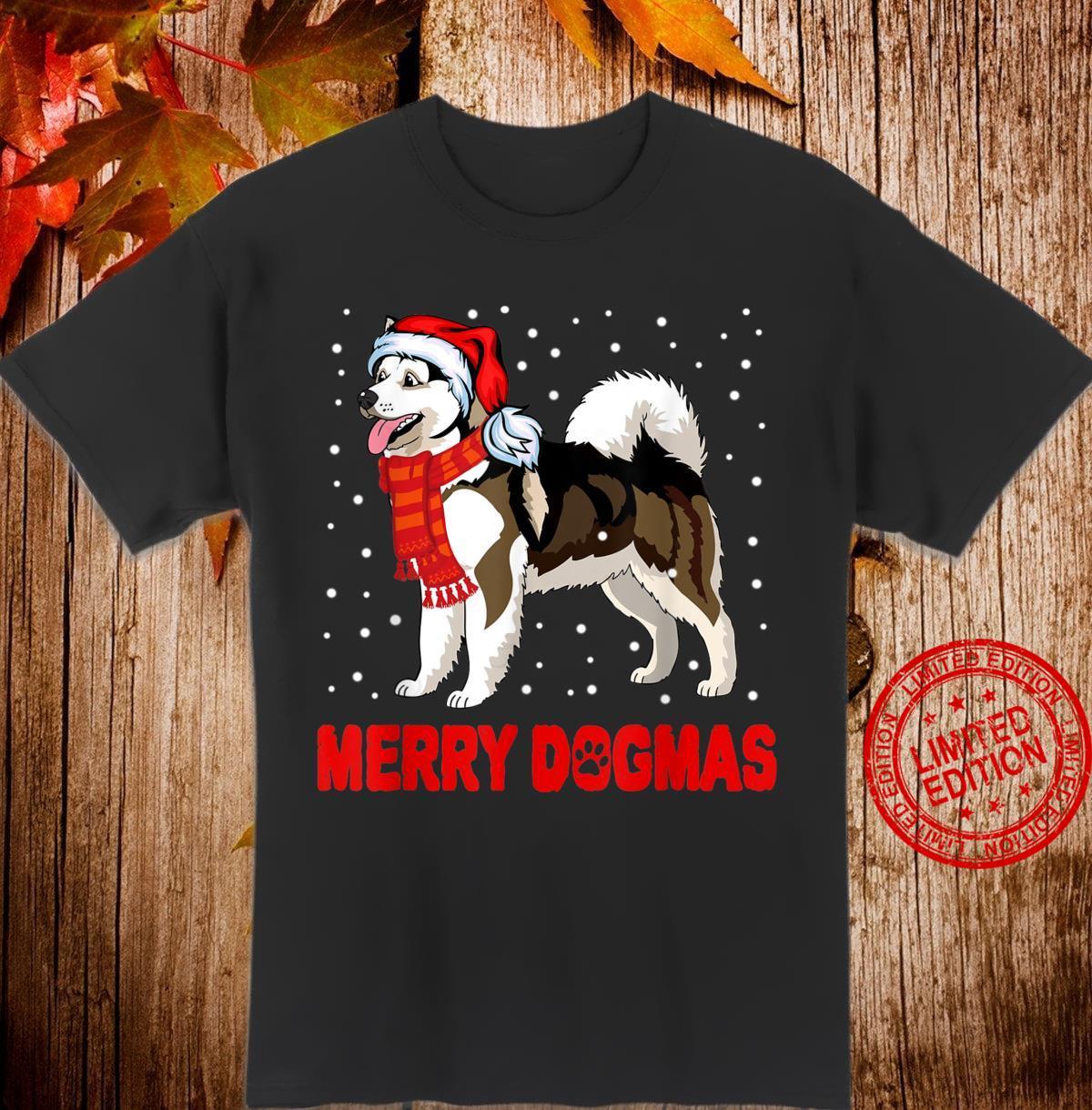 Alaska Malamute Merry Dogmas Christmas Dogs Shirt