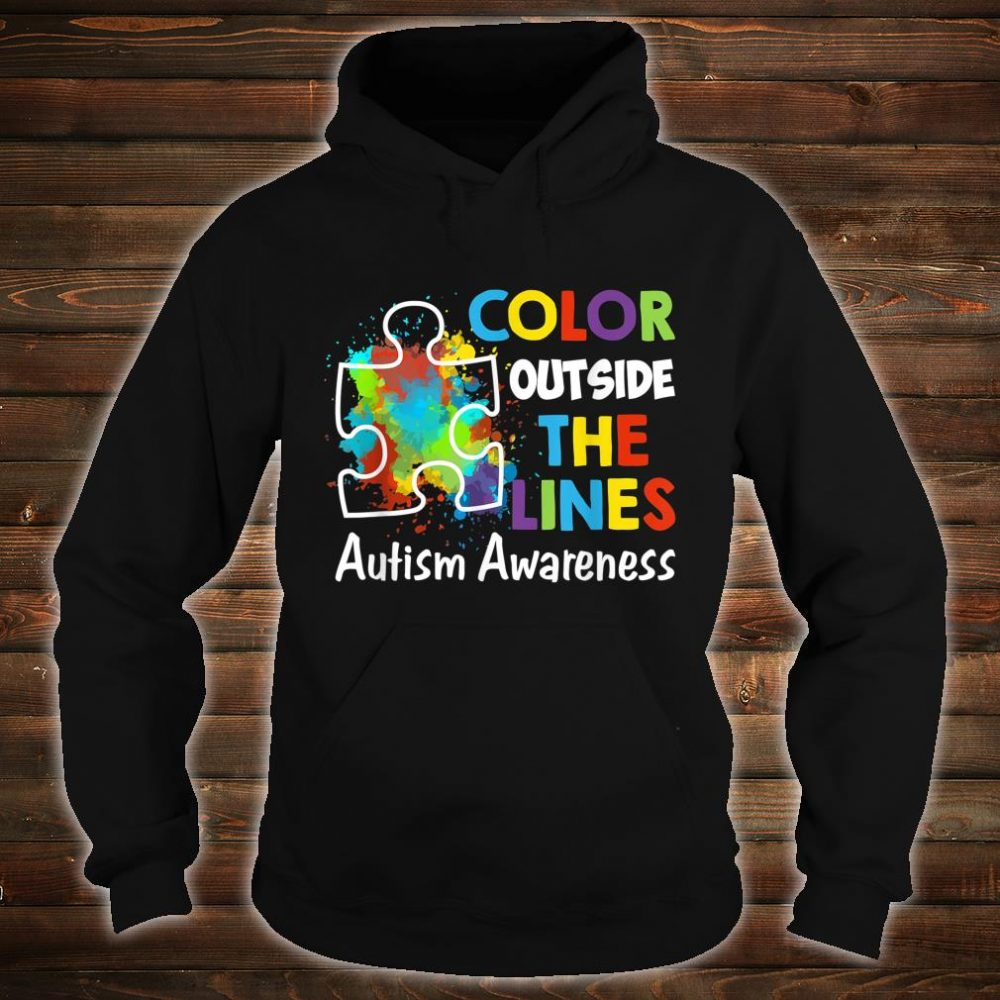 Autism Awareness Gift Colour Outside The Line Shirt hoodie