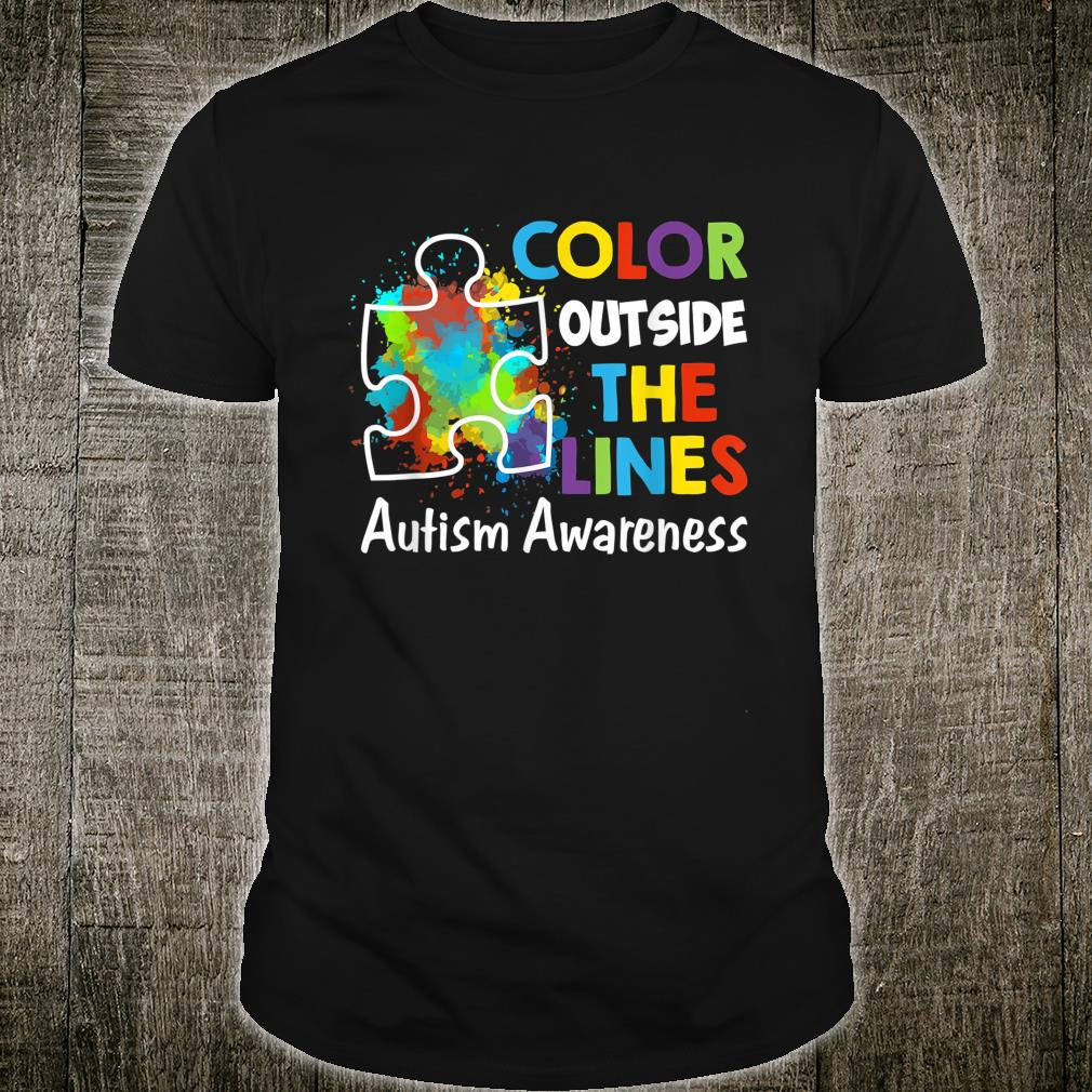 Autism Awareness Gift Colour Outside The Line Shirt