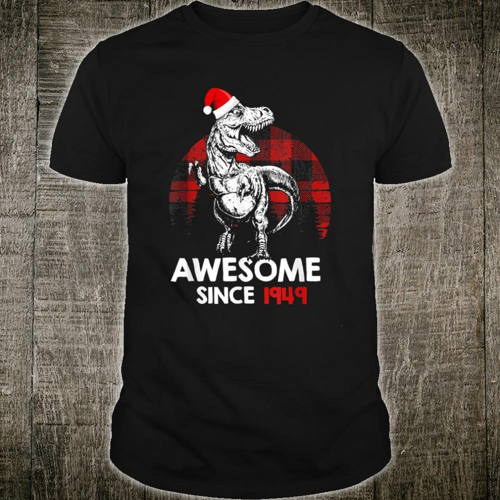 Awesome Since 1949 71st Birthday Red Plaid Christmas Shirt