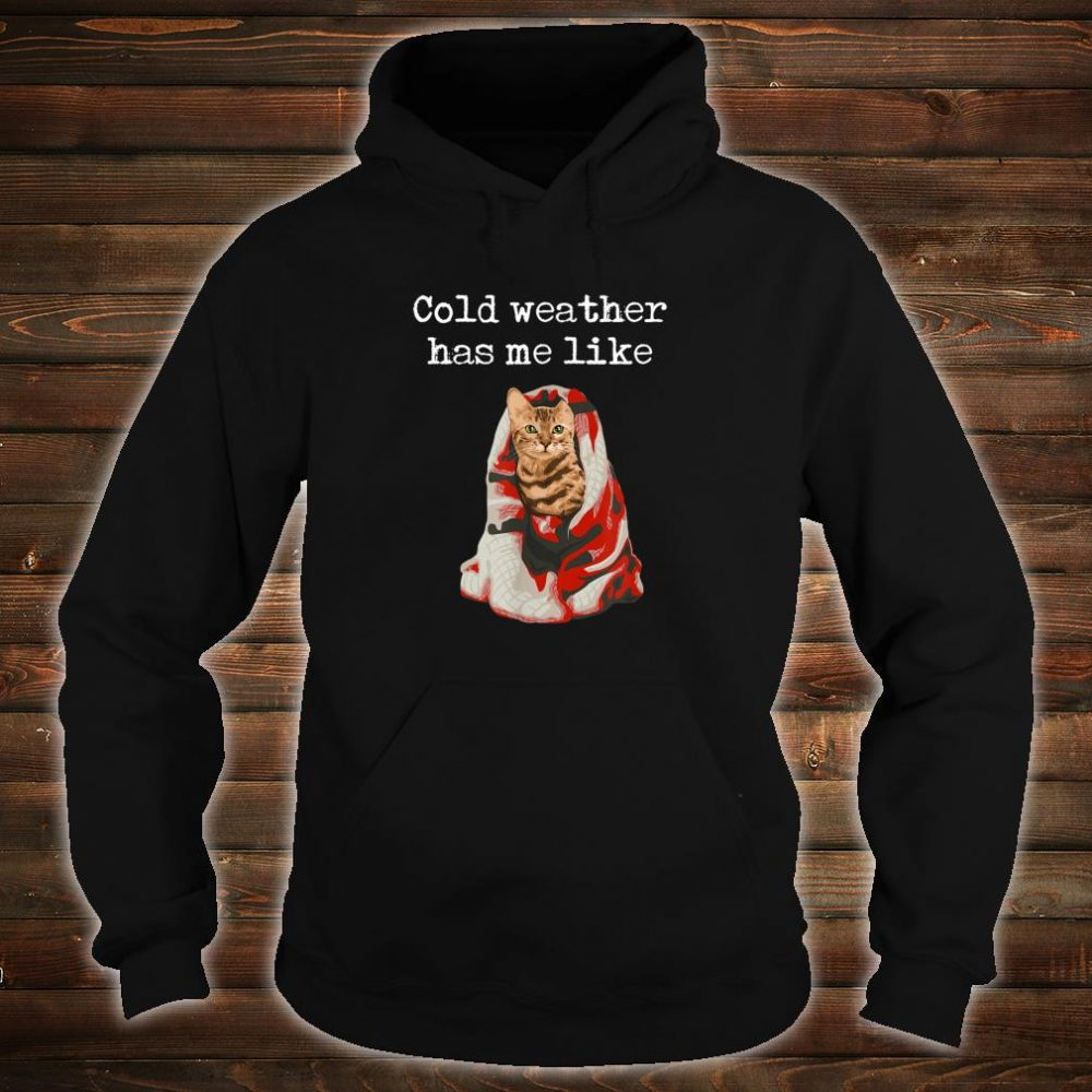 Bengal Cat Cold Weather Holiday Shirt hoodie