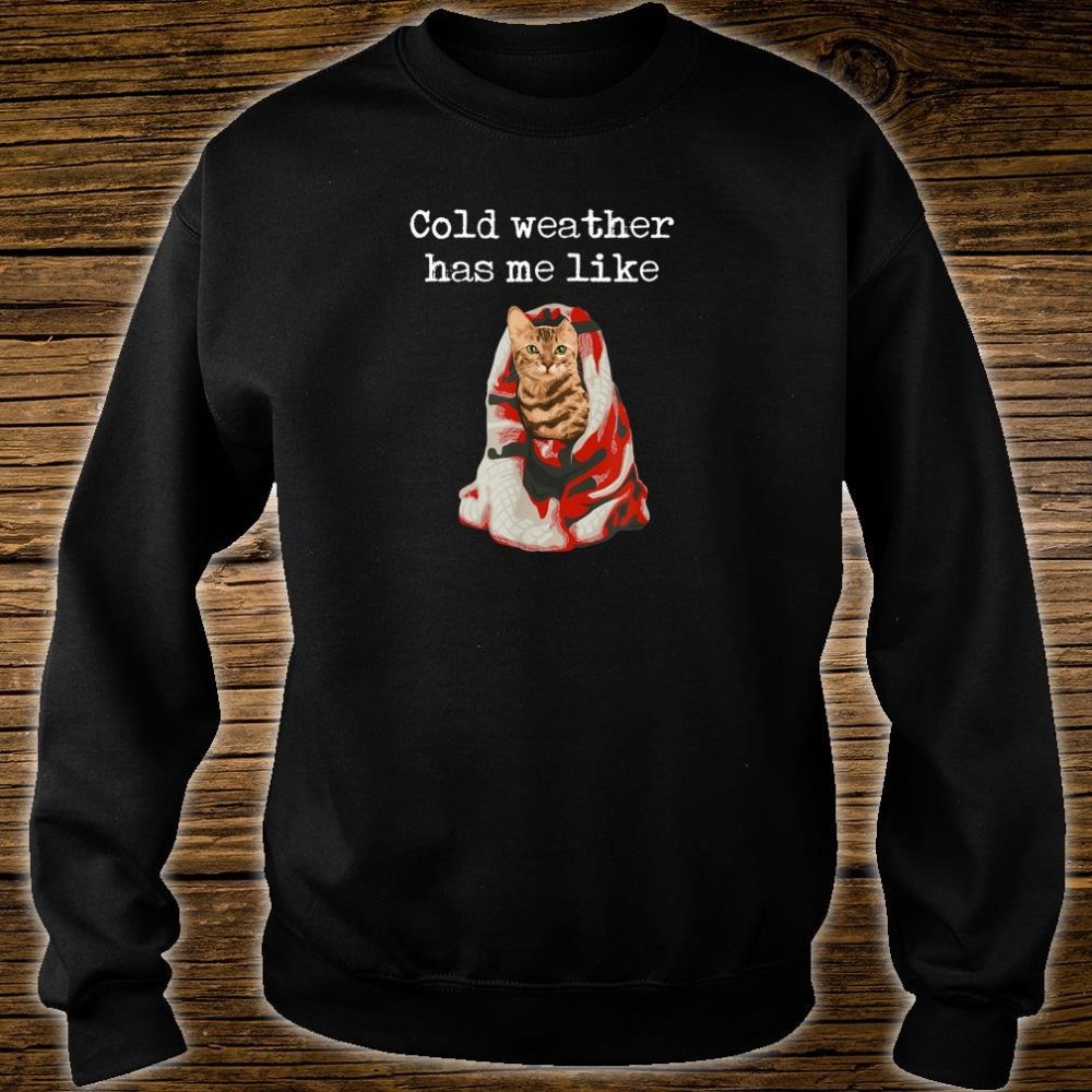 Bengal Cat Cold Weather Holiday Shirt sweater