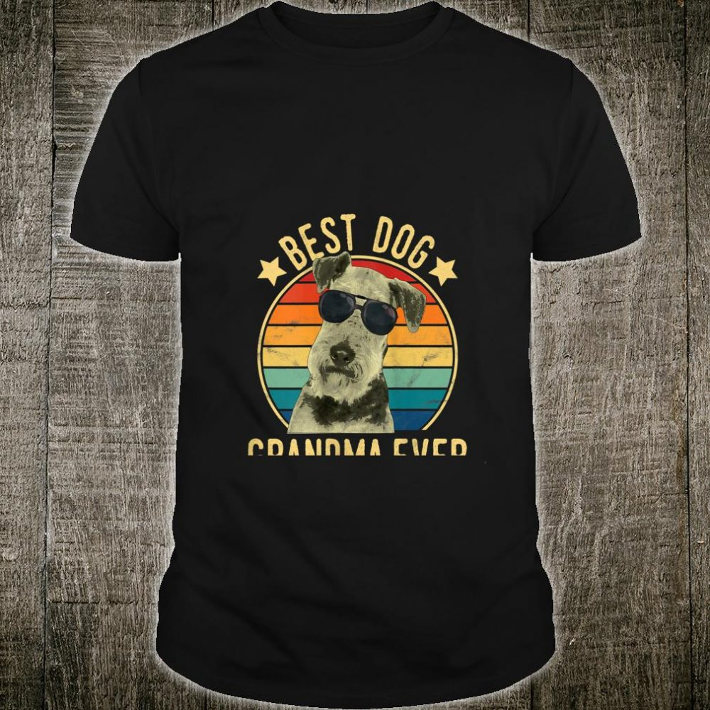 Best Dog Grandma Ever Airedale Terrier Mother's Day Shirt