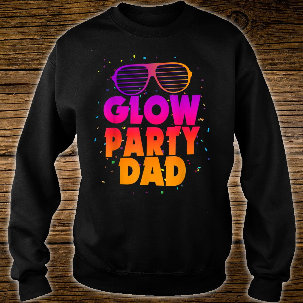 Birthday Party Matching Costume Father Glow Party Dad Shirt sweater