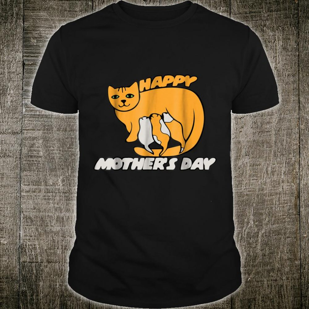 Breastfeeding kitty cat mothers day shirt happy mother's day Shirt