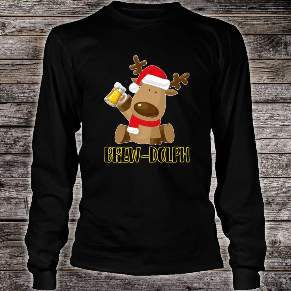 Brew Dolph Christmas Beer Shirt long sleeved