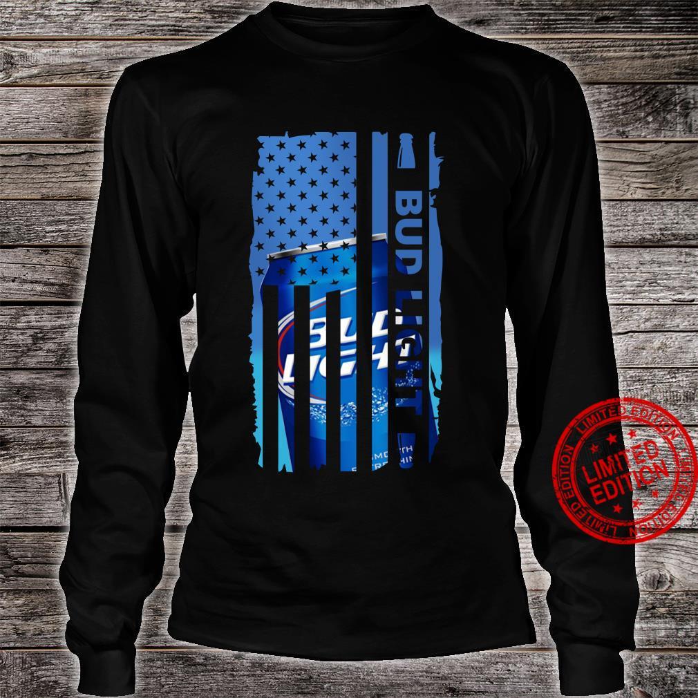 Bud Light Veteran US flag shirt long sleeved