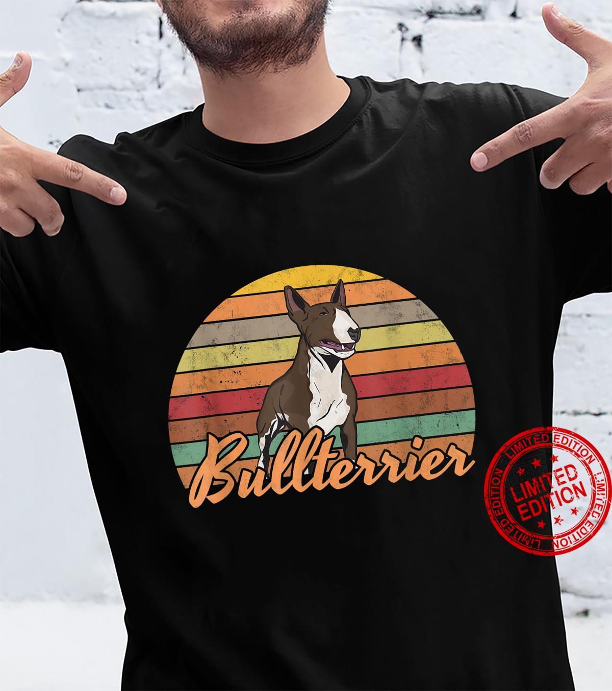 Bullterrier Retro Bull Terrier Hundehalter Geschenk Shirt