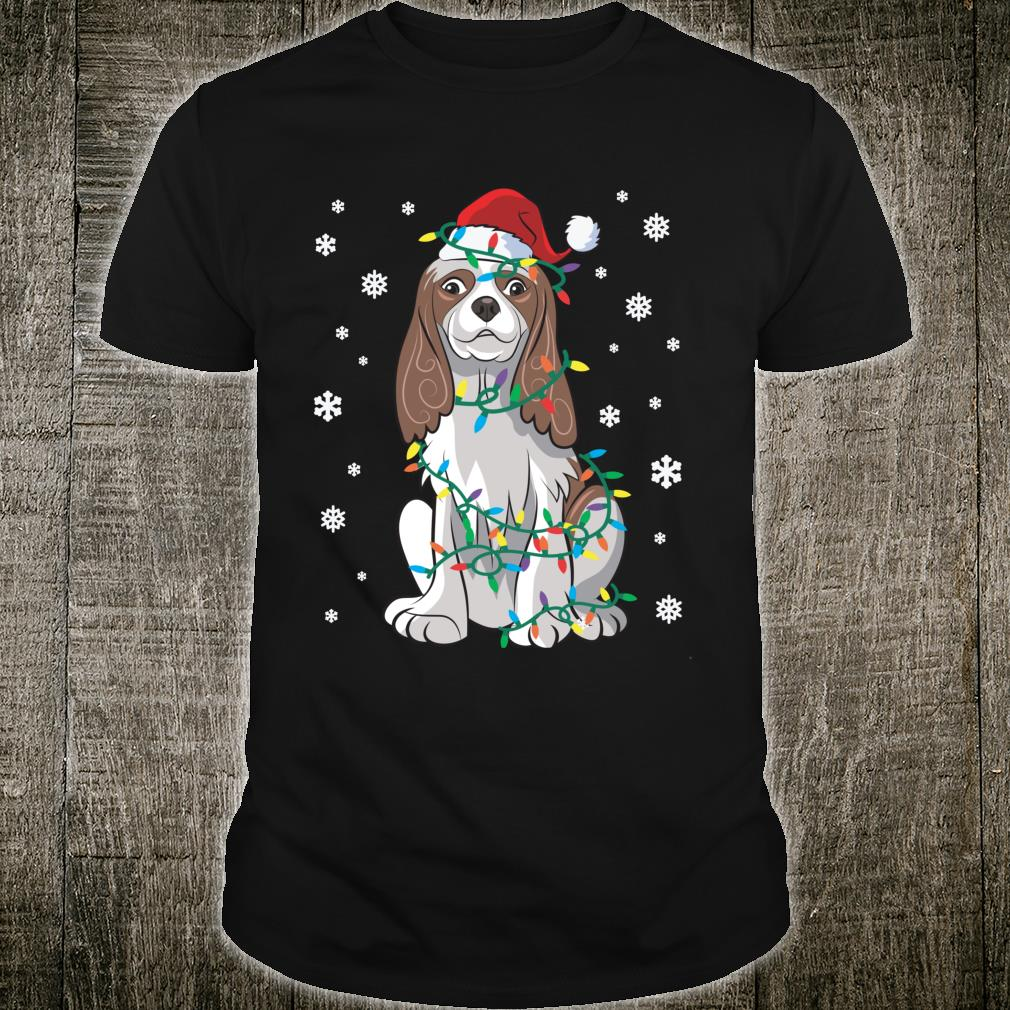 Cavalier King Charles Wrapped In Christmas Lights Dog Shirt