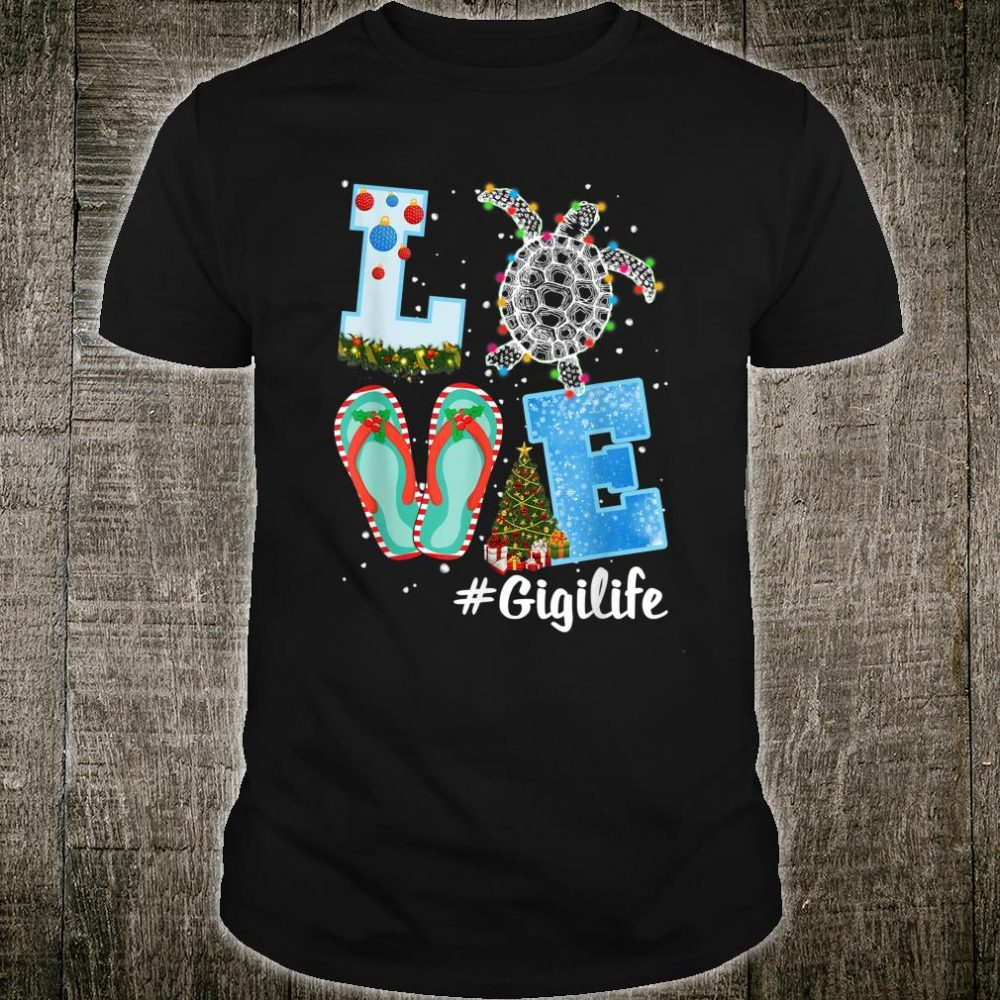 Christmas LOVE Gigi Turtle Xmas Pajama Shirt