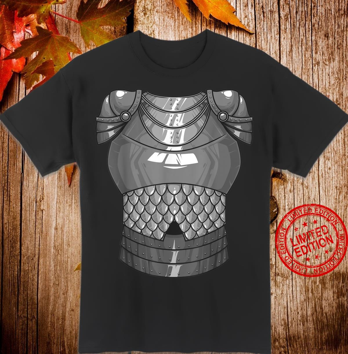 Cool Knight Armor Lazy DIY Halloween Costume Shirt