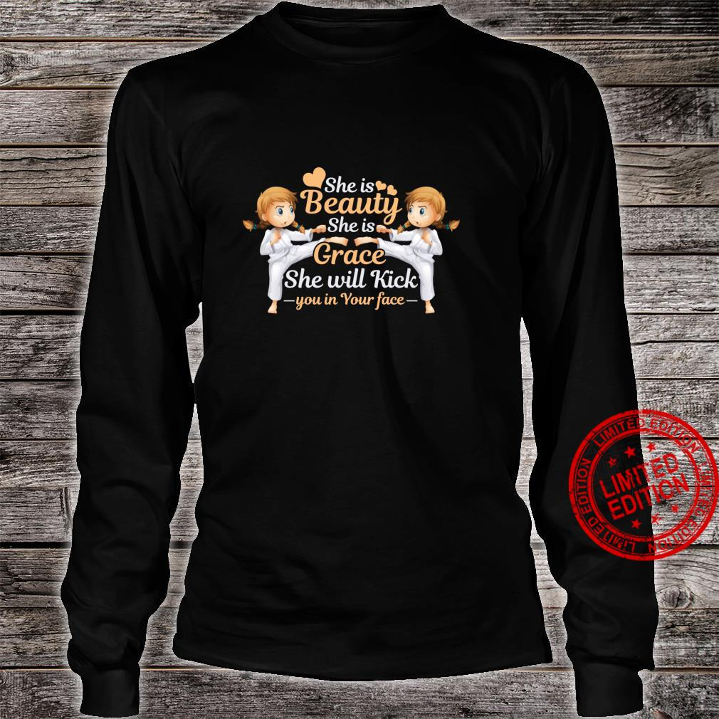 Cute Girls Taekwondo Korean Martial Art Love Karate Shirt long sleeved