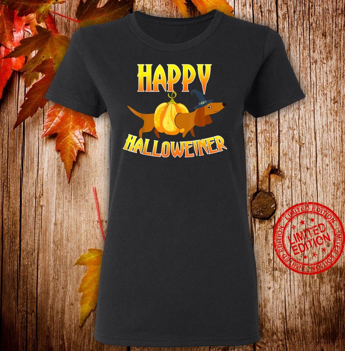DachshundHappyHalloweiner HalloweenDogs Shirt ladies tee