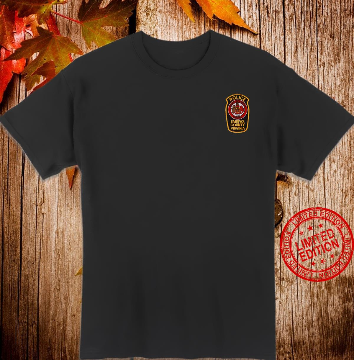 Fairfax County Police Department Patch Image Virginia Shirt