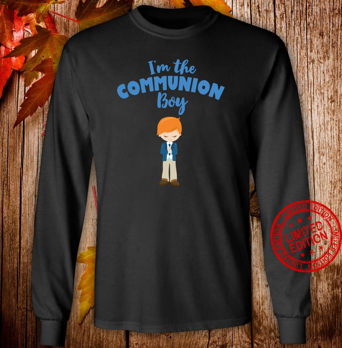 First Communion for red haired Boys 2020 Shirt long sleeved