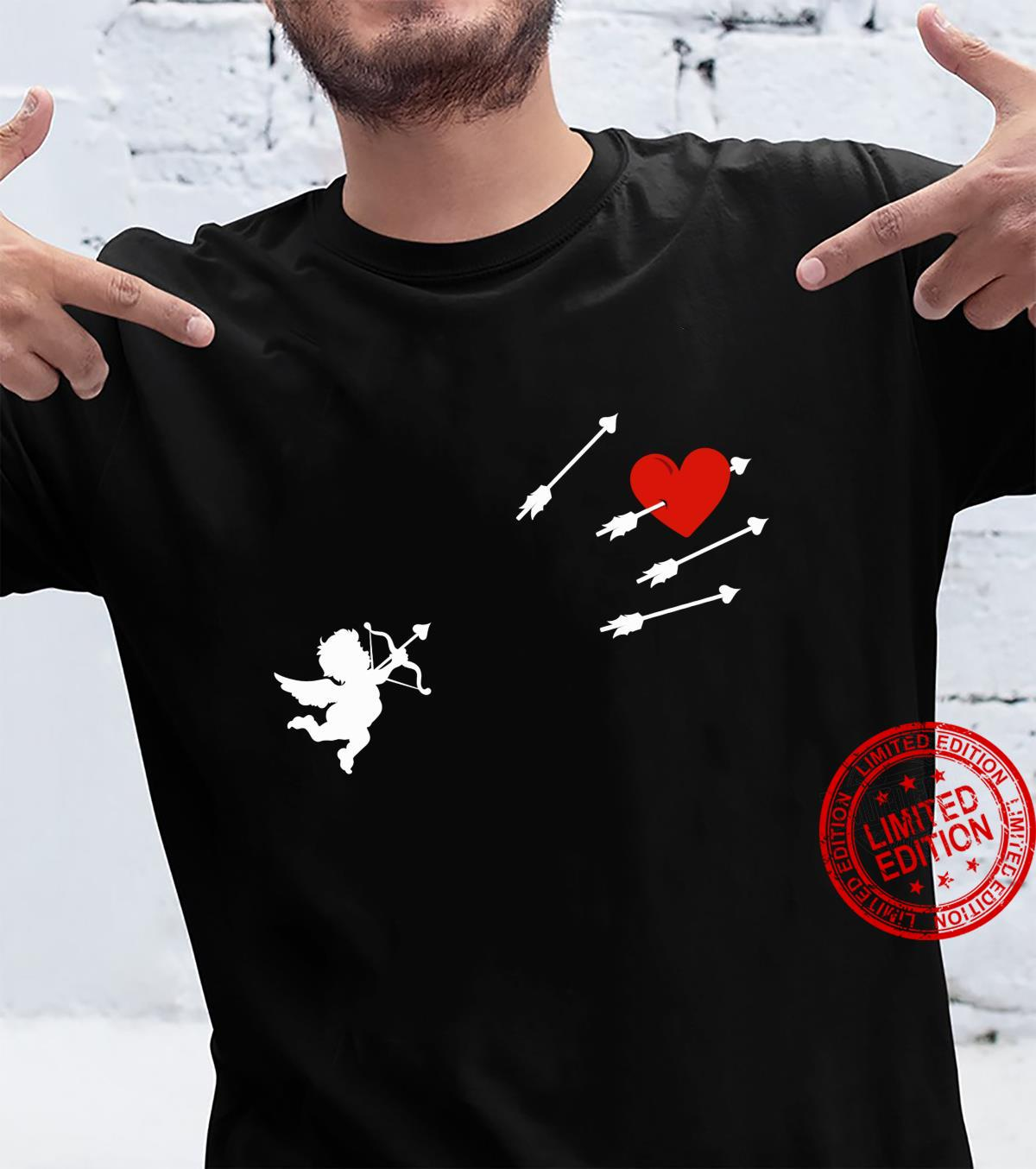 Funny Cupid Heart Valentine's Day Angel Bow And Arrow Shirt
