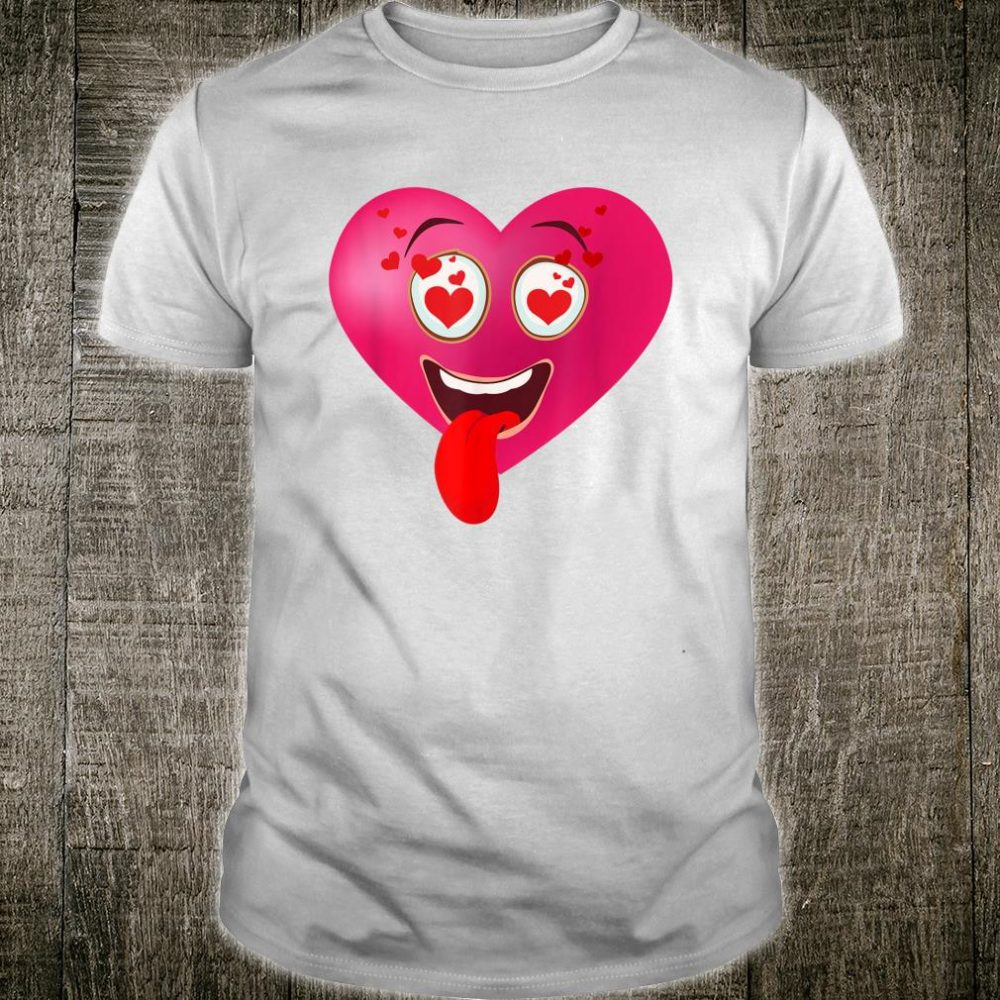 Funny Red Heart Cute Humor Valentines Day Kid Shirt