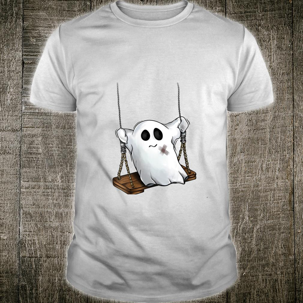 Ghost on a Swing Cute Halloween Costume Kids, Youth Shirt