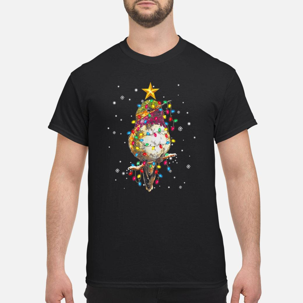 Hummingbird light Christmas tree Bright Colorful Xmas Tree Shirt