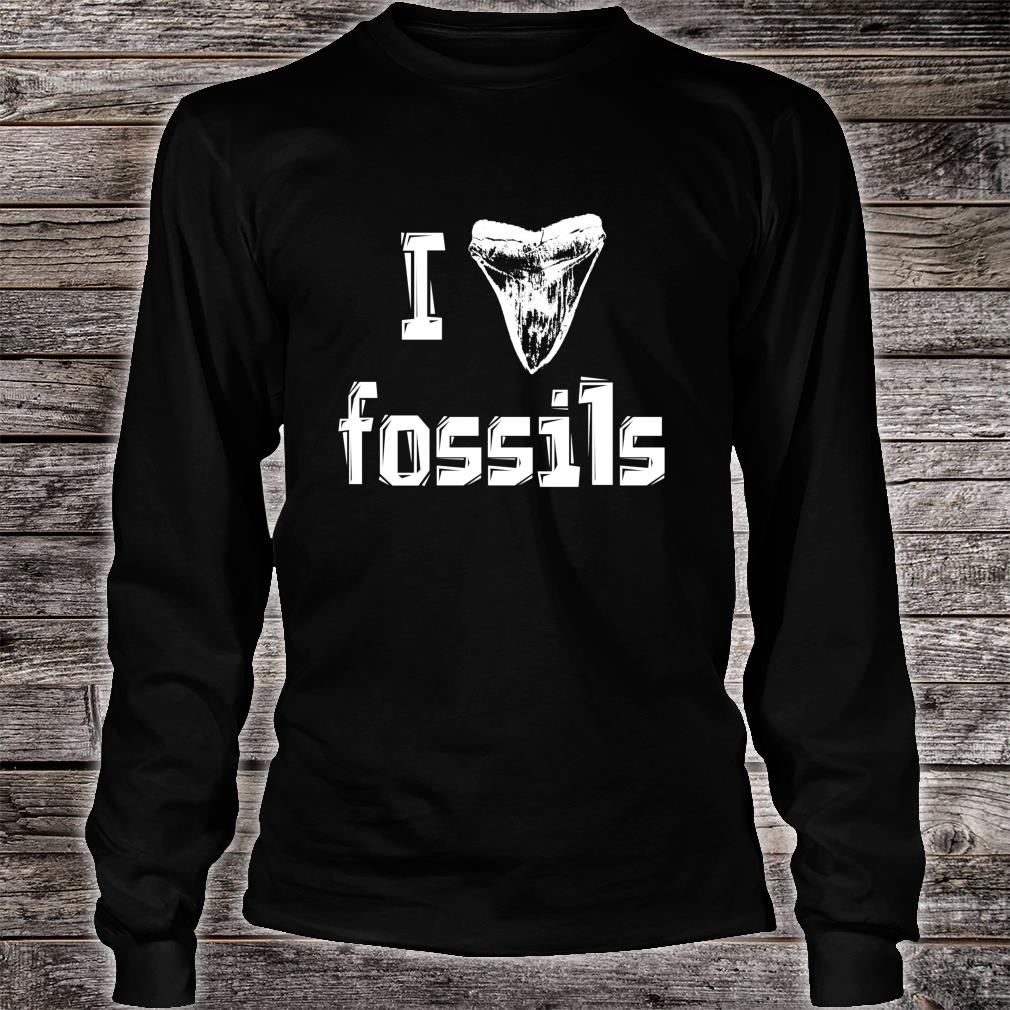 I Love Fossils Fossil Collector Rock Hound Paleontology Shirt long sleeved