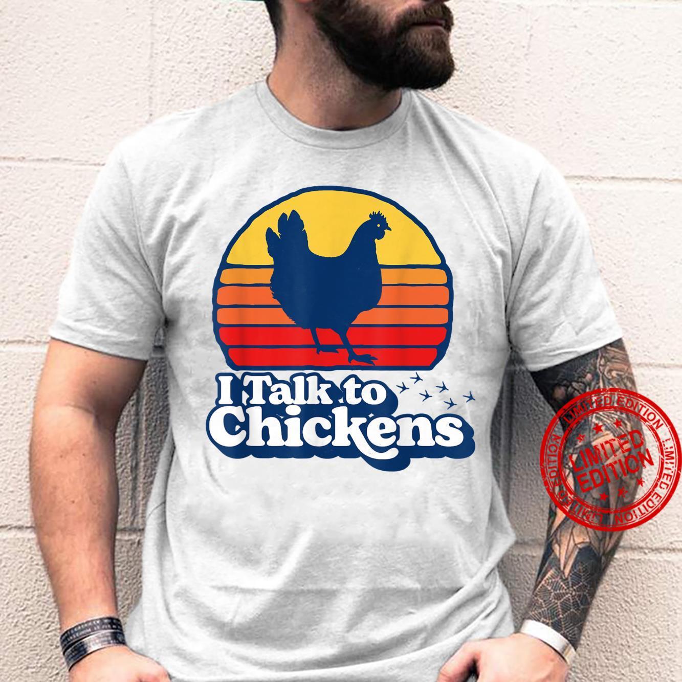 I Talk to Chickens Vintage 80s Sun Urban Chicken Shirt
