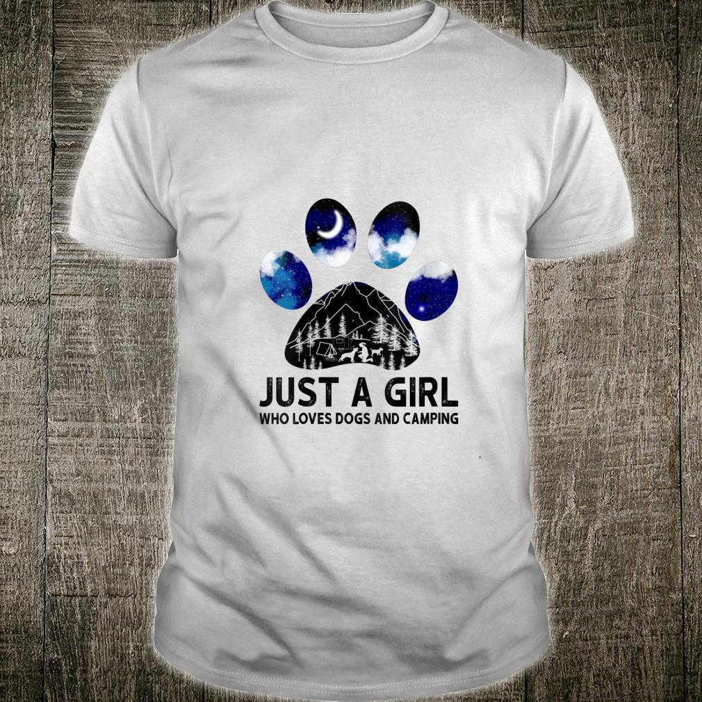 Just A Girl Who Loves Dogs And Camping Shirt