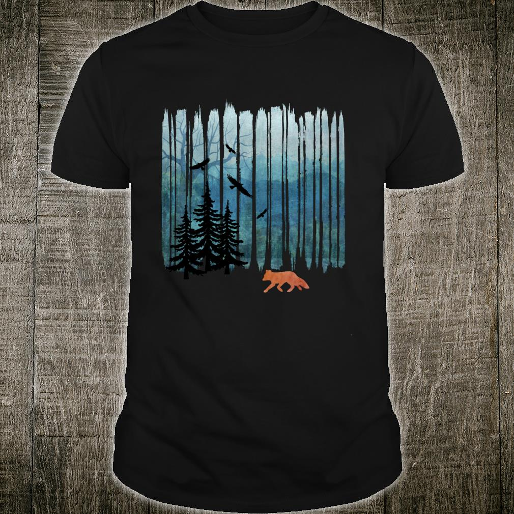 Misty Forest Fox - Brush Strokes Shirt