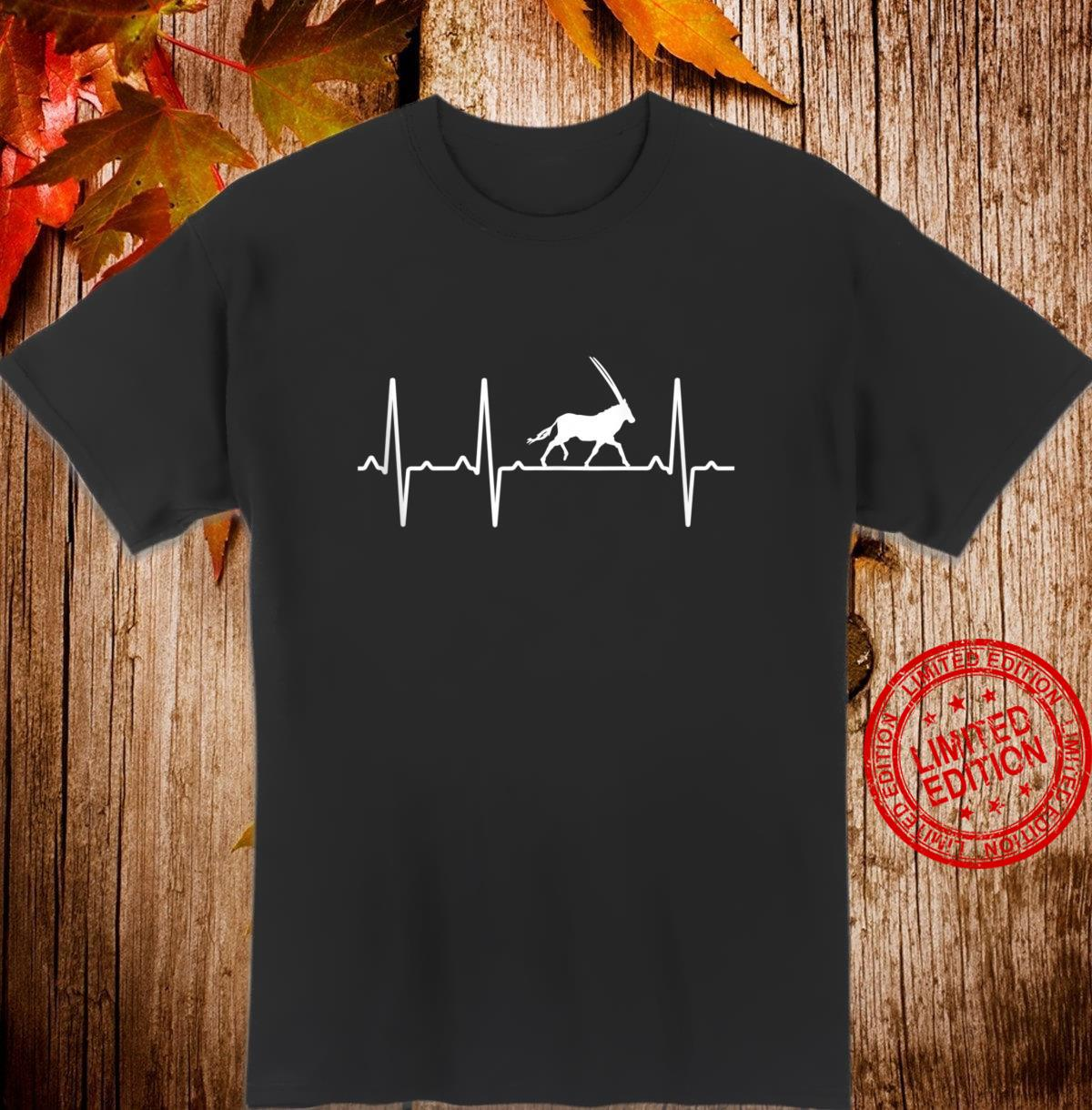 Oryx Heartbeat Antelope Animal Shirt